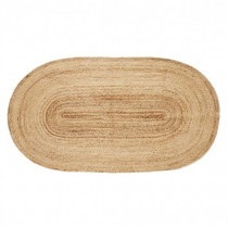 Hubsch Vloerkleed/ Floor mat, jute, nature, oval-5712772470541-20