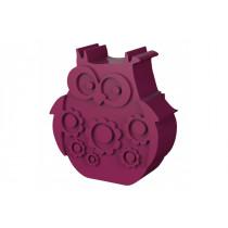 Blafre lunchbox uil fuchsia (rond model met vakverdeling)-7090015483939-20