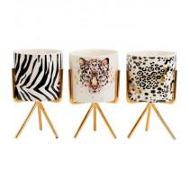 Hoff Wildlife leopard deco potjes, set van 3-4042026076733-20