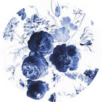 KEK Wallpaper Circle, Royal Blue Flowers diameter van 142,5 of 190 cm-8719743885363-20