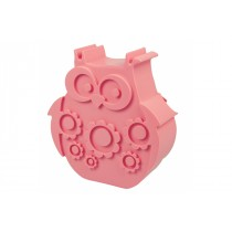 Blafre lunchbox uil roze (rond model met vakverdeling)-7090015487913-20