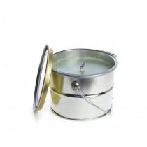 Rustik Lys Buitenkaars Pale Green Bucket 18x14cm-4752046060994-20