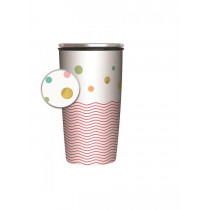 Chic mic Slide Cup Bamboo Dots and Waves Gold 700ml-4260375689613-20