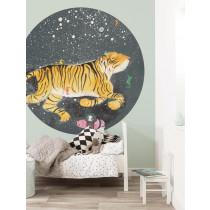 KEK Wallpaper Circle, Behangcirkel Smiling Tiger, ø 190 cm-8719743885974-20