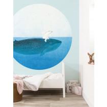 KEK Wallpaper Circle, Behangcirkel Riding the Whale, ø 190 cm-8719743886148-20