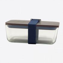Cookut lunchbox uit glas, bamboe deksel en riem donkerblauw 20x12x8-3760195168967-20