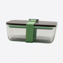 Cookut lunchbox uit glas, bamboe deksel en riem groen 20x12x8-3760195169001-20