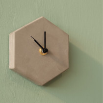 Valence Mono Clock Concrete Grey-8719689434403-20