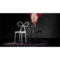 Qeeboo Ribbon Chair Black set van 2 stuks-8052049050630-20