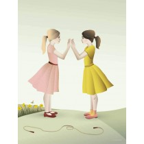 Vissevasse Hand-clapping Grils Poster 30x40cm-5713138723820-20