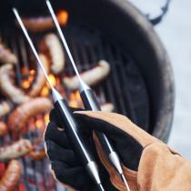 Point Virgule BBQ Handschoen rechts bruin en zwart leder 42x40-5420059834527-20