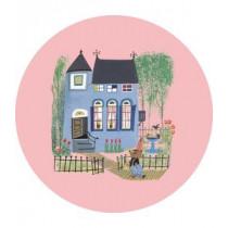 KEK Wallpaper Circle,Behangcirkel Bear with Blue House, ø 190 cm-8719743885899-20