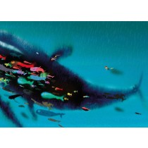 Kek Amsterdam Fotobehang Swimming with Whale, 389.6 x 280 cm-8719743880627-20