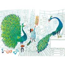 Kek Amsterdam Fotobehang Green Peacocks, 389.6 x 280 cm-8719743880504-20