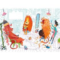 Kek Amsterdam Fotobehang Lions Haircut, 389.6 x 280 cm-8719743880399-20