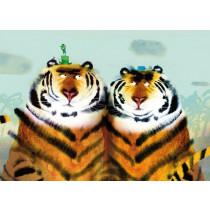 Kek Amsterdam Fotobehang Two Tigers, 389.6 x 280 cm-8719743880610-20