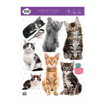 Kek Amsterdam Muurstickers Kittens (8 Wall Stickers), 42 x 59 cm (8 wall stickers)-8718754017916-20