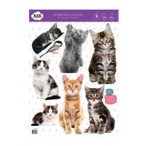 Kek Amsterdam Muurstickers Kittens (8 Wall Stickers), 42 x 59 cm (8 wall stickers)-8718754017916-20