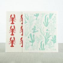 Love Liga set van 2 ecologische vaatdoekjes kreeft and zeewier-5060618835048-20