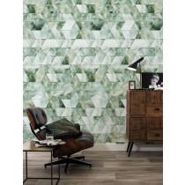 Kek Amsterdam Behang Marble Mosaic, Groen, 97.4 x 280 cm-8719743885738-20
