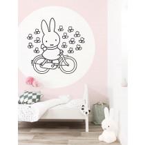 KEK Wallpaper Circle, Behangcirkel Nijntje op de fiets, ø 190 cm-8719743886025-20