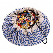 "Play and Go speelkleed/opbergzak ""Zigzag Blue""-5901121400111-20"