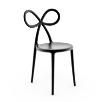 Qeeboo Ribbon Chair Black single pack-8052049050623-20