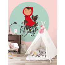 KEK Wallpaper Circle, Behangcirkel Riding my Bike, ø 190 cm-8719743885998-20