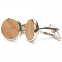 TWO-O Manchetknopen Round Oak-8718591370205-20