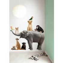 KEK Amsterdam Muurstickers Safari Friends Set Olifant XL-8718754013819-20