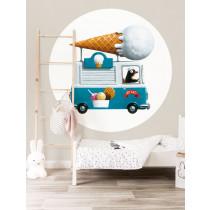 KEK Wallpaper Circle, Behangcirkel Icecream Truck, ø 190 cm-8719743886117-20