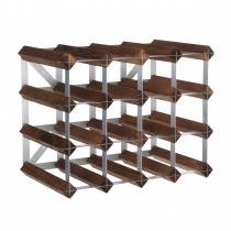 Traditional Wine Rack 16 flessen donker eik-5029237001180-20