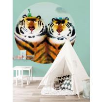 KEK Wallpaper Circle, Behangcirkel Two Tigers, ø 190 cm-8719743886131-20