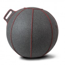 Vluv VELT zitbal Grey-Melange / Red 65 cm-4260534590576-20