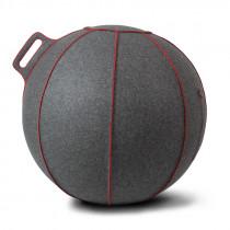 Vluv VELT zitbal Grey-Melange / Red 75 cm-4260534590613-20