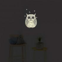 Chispum muursticker Glow I.t.d. Big Owl-8435419019305-20