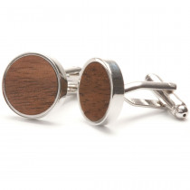 TWO-O Manchetknopen Straight Walnut-8718591370199-20