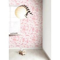 KEK Amsterdam Behang Dieren ABC, roze-8718754019002-20