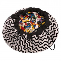 "Play and Go speelkleed/opbergzak ""Zigzag Black""-5901121400333-20"