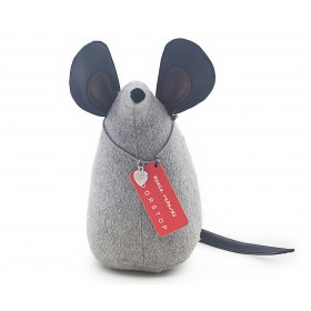 "Doorstop ""Chip the Mouse"" Grey Felt"