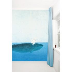 KEK Amsterdam Fotobehang op de rug van een walvis