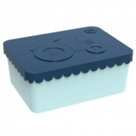 Blafre lunchbox tractor blauw