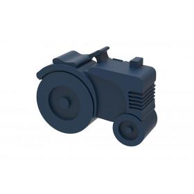 Blafre lunchbox tractor (rond model met vakverdeling) donker blauw