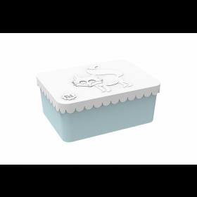 Blafre lunchbox vos wit