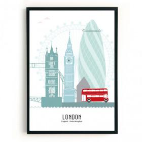 Mevrouw Emmer Poster Londen B2 kleur