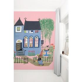 KEK Amsterdam fotobehang Beer voor het Blauwe Huis, roze