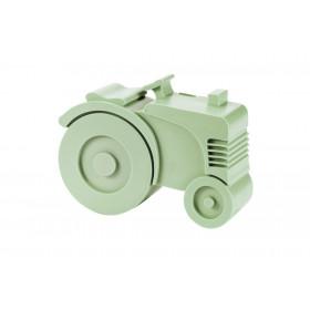 Blafre lunchbox tractor licht groen (rond)