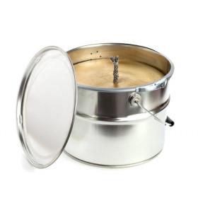 Rustik Lys Buitenkaars Gold Bucket 26x22cm