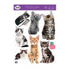 Kek Amsterdam Muurstickers Kittens (8 Wall Stickers), 42 x 59 cm (8 wall stickers)