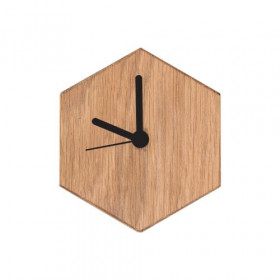 Valence Mono Clock Oakwood